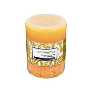 Scented Pillar Candle Lemongrass