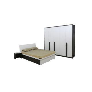Series 36 Queen Bed with 1 Side Table & 5 Door Wardrobe