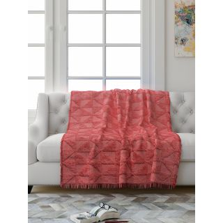 Saral Home Soft Cotton Unique Firki Design Tufted Two Seater Throw/ Sofacover - (Pink)-SOS-1010-PINK