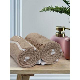 Mark Home  Zero Twist Anti Microbial Treated Simply Soft Hand Towel Beige