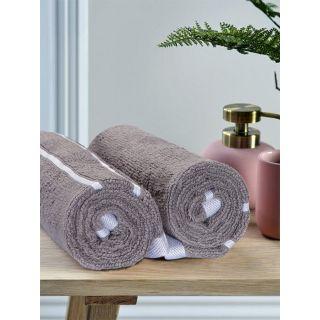 Mark Home  Zero Twist Anti Microbial Treated Simply Soft Hand Towel Grey
