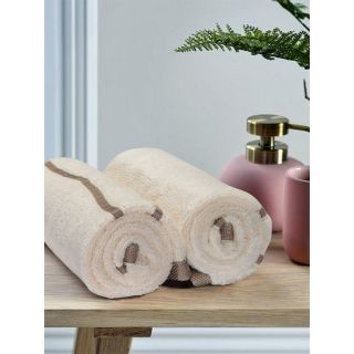 Mark Home  Zero Twist Anti Microbial Treated Simply Soft Hand Towel Ivory
