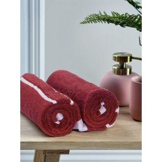 Mark Home  Zero Twist Anti Microbial Treated Simply Soft Hand Towel Maroon