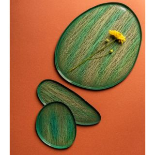 Metal Tray Textured - Green