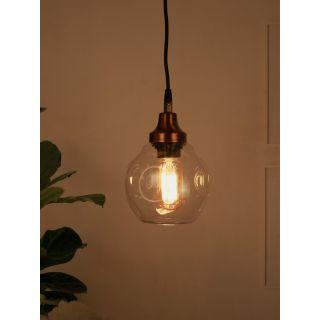 Fos Lighting Contemporary Copper Distorted Spot 6 inch Glass Pendant Light