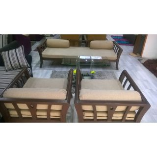 IS 02 Set (3+1+1) Diwan Style with Mattress & Pillows