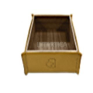 Yellow Hard Leather Tissue Box