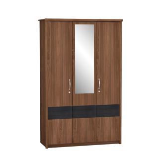 Yoop 3 Door Wardrobe With Mirror