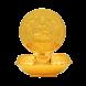 Gajalakshmi Lamp - 24k Gold Plated (88.9mm)